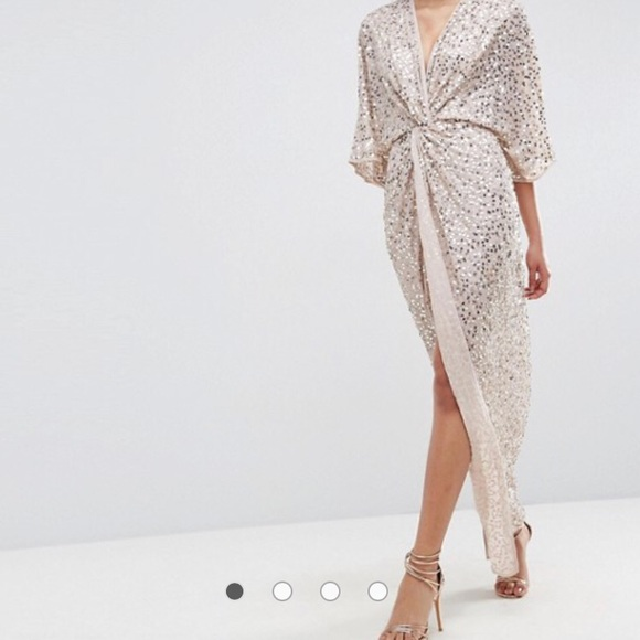 806d840143d ASOS Dresses   Skirts - ASOS Sequin Kimono Maxi Dress - Size 14